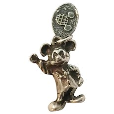 Disney  Mickey Mouse Sterling Silver Charm