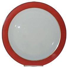 "Pyrex Pink Flamingo 12"" Round Platter 1950's Opal Milk Glass (#1)"
