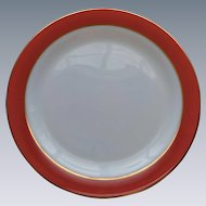 "Pyrex Pink Flamingo 12"" Round Platter 1950's Opal Milk Glass #2"