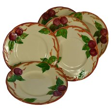 Set of 6 Franciscan Ware Apple Motif Bread & Butter Plates #1