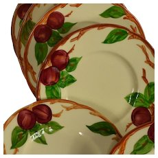 Set of 6 Franciscan Ware Apple Motif Bread & Butter Plates #2