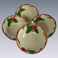 Set of 4 Franciscan Ware Apple Motif Cereal Bowls #2