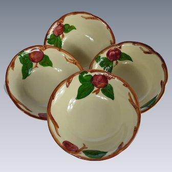 Set of 4 Franciscan Ware Apple Motif Cereal Bowls #2