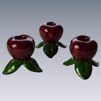Franciscan Apple Candleholder Trio