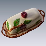Franciscan Apple Covered Butter Dish