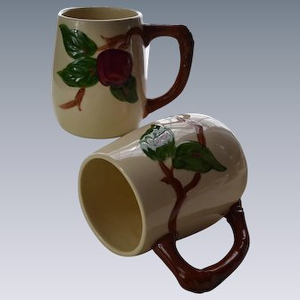 Franciscan Apple Mugs (Grandmugs) Pair