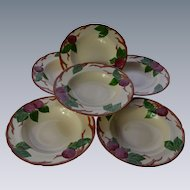 Franciscan Apple Soup Bowls Set of 6