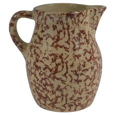 Robinson Ransbottom Stoneware Milk Pitcher Roseville, Ohio Circa 1940