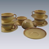 Buffalo China 1930's Demitasse Set