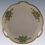 Reinhold Schlegelmilch Porcelain Art Deco Gold Handled Plate