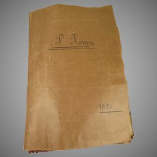 Wonderful Original  sample book including dolls clothing,  with provenance from 1924