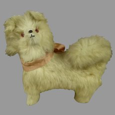 Uncommon and very rare French Spitz Dog/ Candy Container  ca 1900