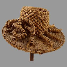Exceptional Straw Hat for Early doll or Fashion doll