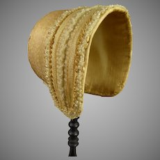 Wonderful and rare original antique French fine straw beaded hat from ca 1870