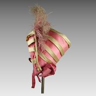 Amazingly beautiful all original doll hat from ca 1850