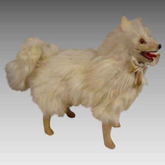 Sweet Antique Fur Salon Dog, Companion for your Fashion Doll or Poupée