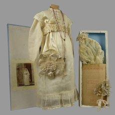Au Bon Marché 7-piece antique original communion set in presentation box