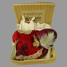 Factory made Original Antique complete doll costume, Bru, Jumeau, Steiner etc.
