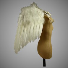 DOLL SIZE Wonderful Rare Antique Feather Angel Wings from the beginning of the 20th century.