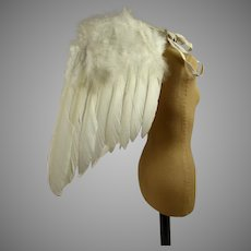 DOLL SIZE Wonderful Rare Antique Feather Angel Wings from the beginning of the 20th century /2