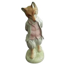 Hard To Find Gold Oval Beatrix Potter Foxy Whiskered Gentleman