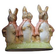 Beatrix Potter Royal Albert  Flopsy Mopsy and Cottontail Figurine