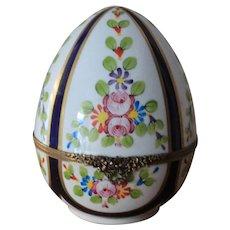 Large Limoges Egg Trinket Box