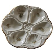 Limoges Large 6 Well Oyster Plate