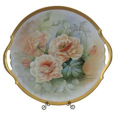 Beautiful Large T&V Limoges Hand Painted Serving Tray