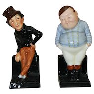 2 Royal Doulton Dickens Characters  Fat Boy and Jingle