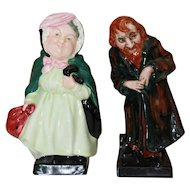 Dickens Character Figurines Sairey Gamp and Fagan