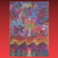 CARLOS ALMAREZ, Hand signed edition of 750, color poster, Los Angeles Olympics