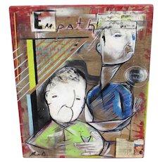 "GIANNI ARONE, Listed,  Urban Art, ""Empath"", Modernist Figures, Acrylic"