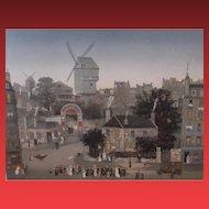 MICHEL DELACROIX,  Mariage a Montmartre, 1991, S/N Lithograph Retails for $3850