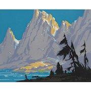 SAM HYDE HARRIS, High Sierra Woodblock print