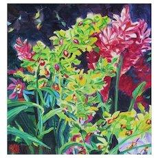 JAN KASPRZYCKI, Listed Hawaii, Still Life with Flowers, oil
