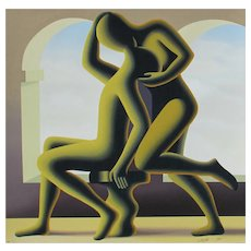 MARK KOSTABI, Listed, Golden Kiss Screenprint, signed and numbered
