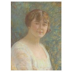 LOUIS KRONBERG, Listed, Early 20th Century Portrait of a Woman, Pastel