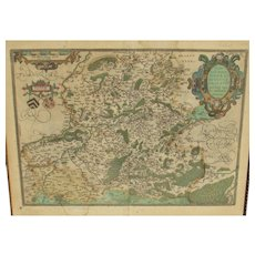 Color Map of Hannonia by Abraham Ortelius, 1579.  Map No. 70