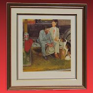 NORMAN ROCKWELL, Breaking Family Ties, Lithograph, 156/200, gallery framed
