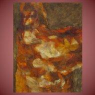 WILLIE SUZUKI, Listed California, Mid Century Modernist Abstract, Bound Series #5