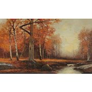 ROBERT W. WOOD, Listed, Deep in the Woods, Woodstock, New York, oil