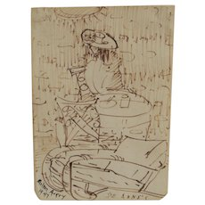 Milton Avery, LISTED, Ste. Anne's, Manitoba, Canada, Ink Drawing, Excellent Provenance