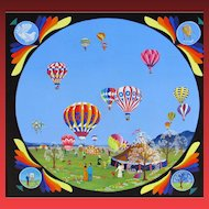 FRED BREEBAART, Listed Netherlands, Hot Air Baloons, acrylic, was $3450