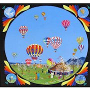 FRED BREEBAART, Listed Netherlands, Hot Air Baloons, acrylic