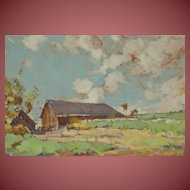 ROY BROWN (Listed 1879-1956) Circa 1930's Spring New Hampshire oil