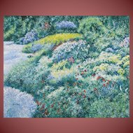 PAUL BRUYERE, Listed, Mid Century French, Flowering Gardens, oil