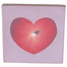 NAOMI CARYL California Modernist Heart 1974 Acrylic