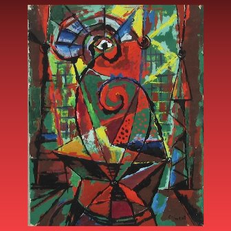 ENRIQUE CLIMENT, Listed Mexico, Modernist Mixed Media Abstract