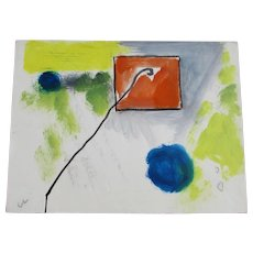 HAROLD CHRISTOPHER DAVIES, California Mod Expressionist Kite, mixed media, 1966